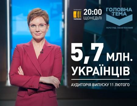 Канал «Украина»: «Главная тема» и «События недели» – лучшие программы на ТВ с начала года