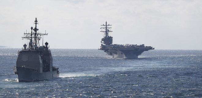 Российский эсминец чуть не столкнулся с крейсером США